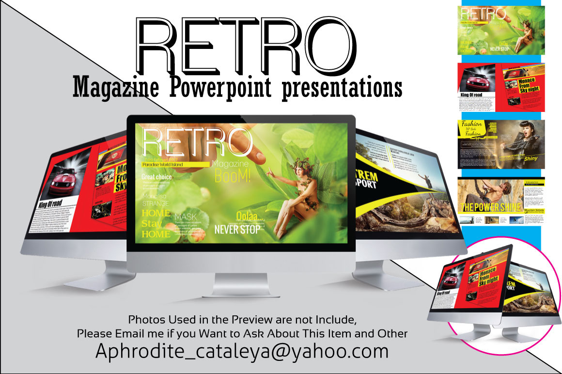 retro magazine powerpoint presentations on behance this presentation retro magazine template is perfect for popular topic