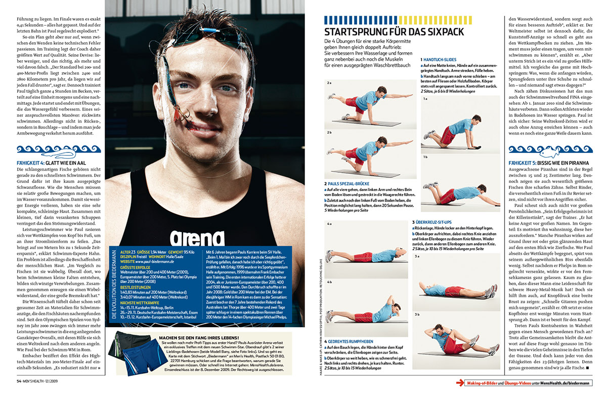 Alle Anderen 2009 swimming - paul biedermann / arena on behance