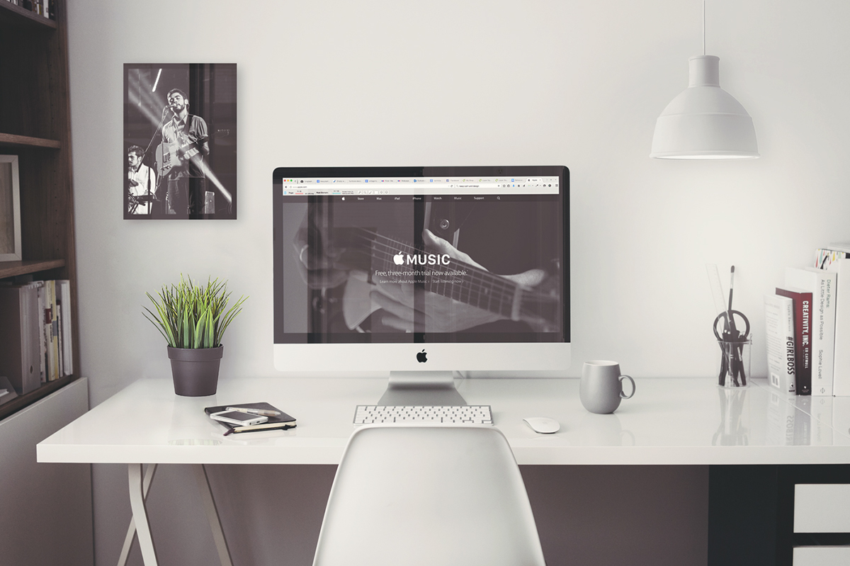 Free Imac 5k Retina 27 Quot Office Psd Mockup On Behance