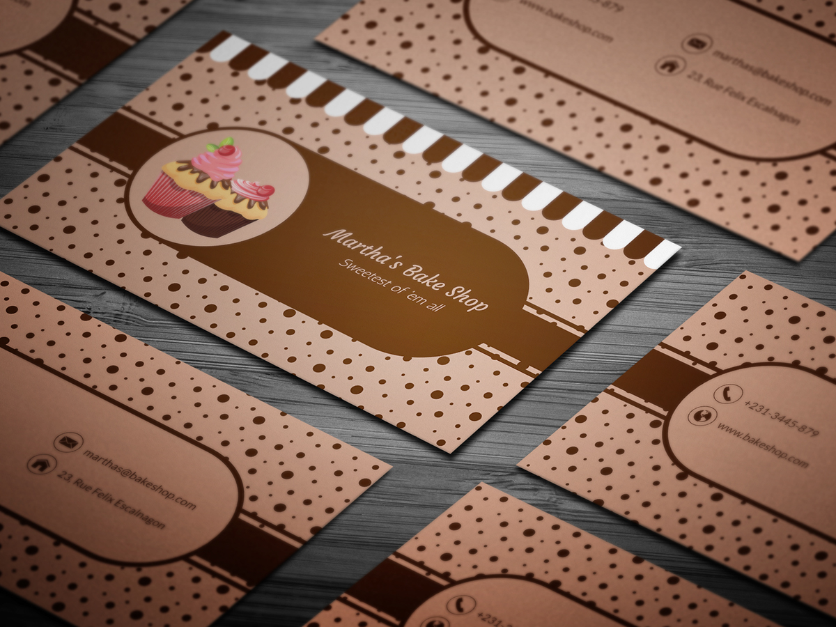 10 FREE Professional Bakery Business Cards Templates