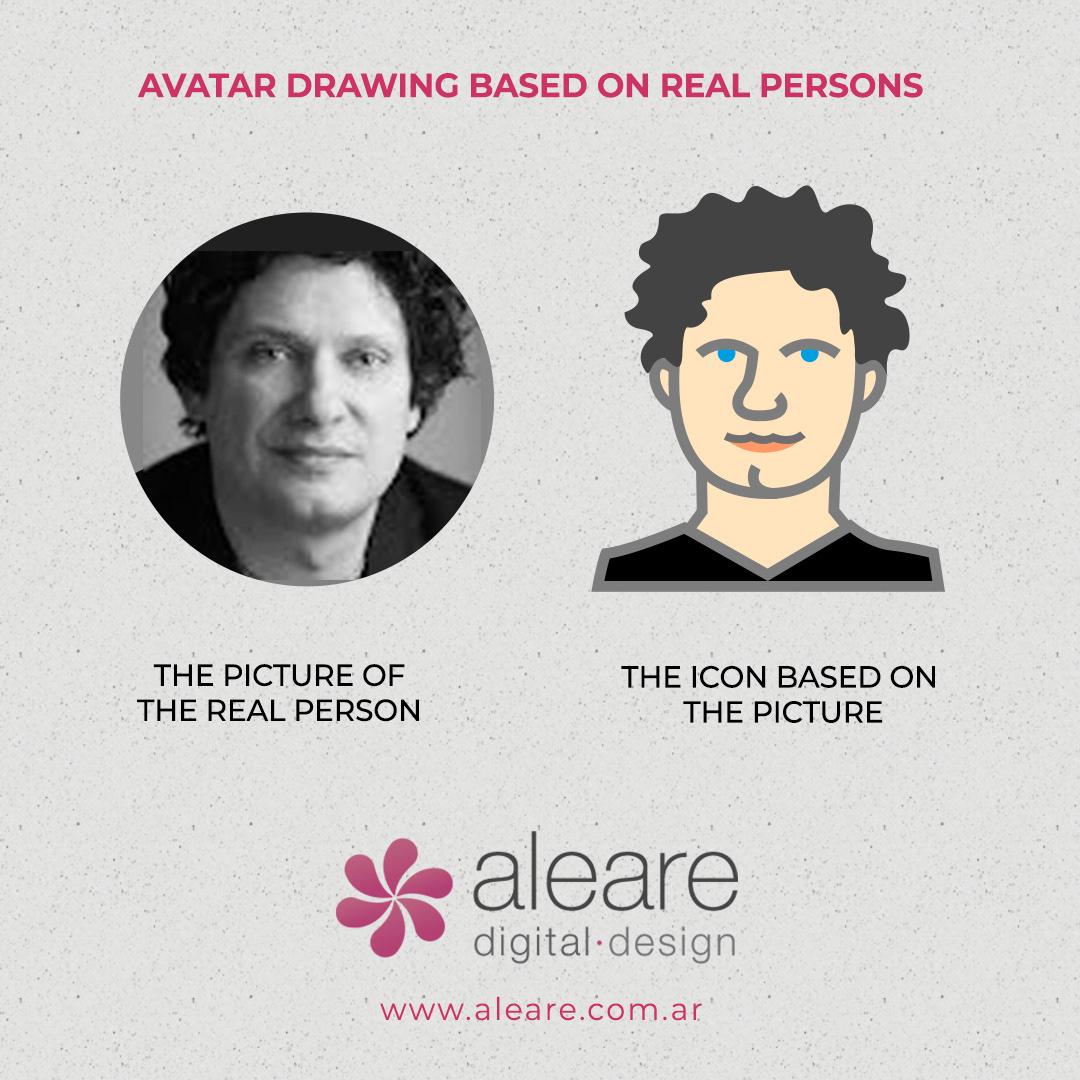 Icon icono avatar dibujo Person-to-icon