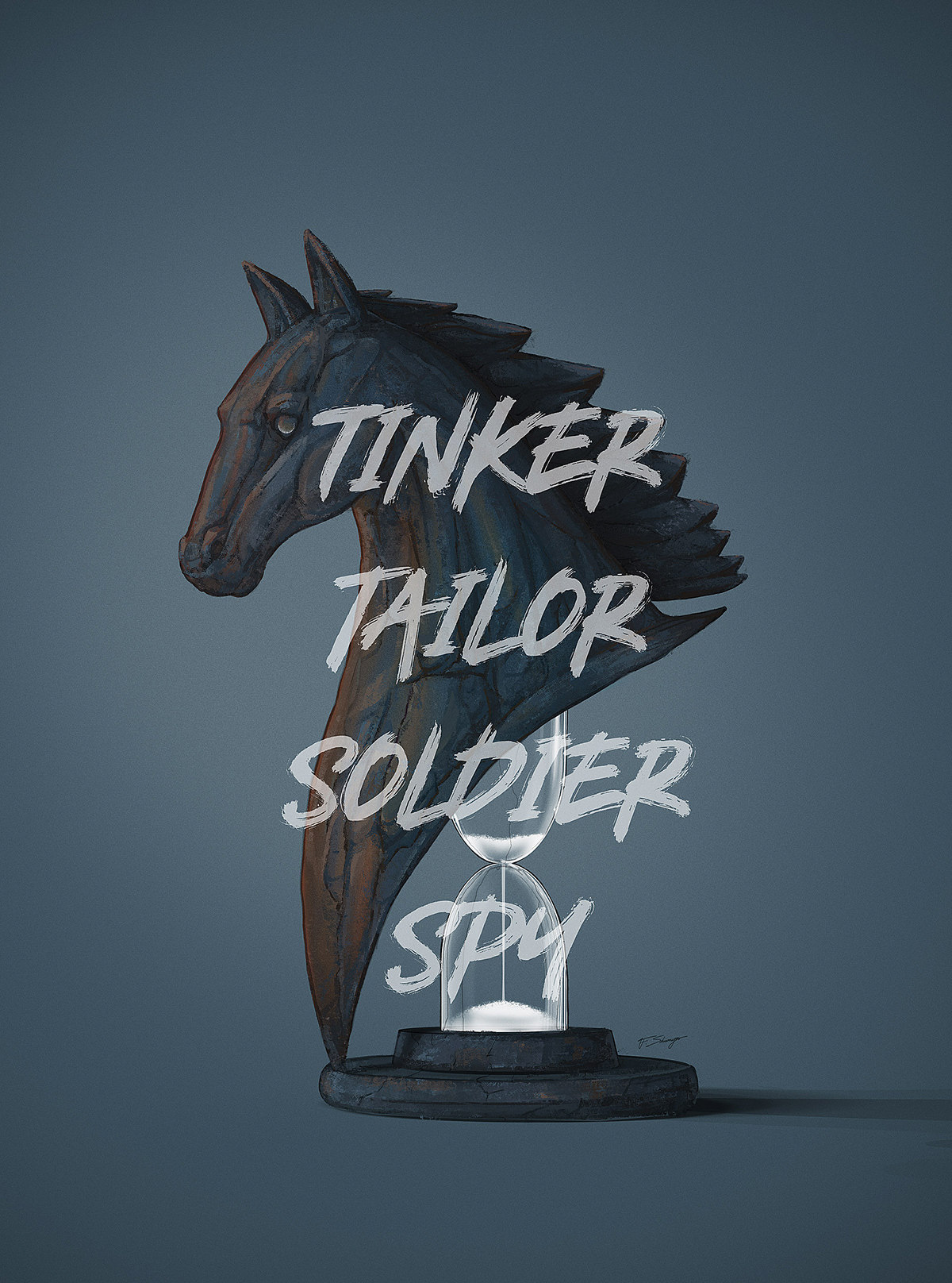 comic movie poster vector horse spy typography   popart chess Film