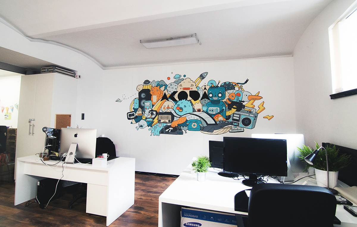 wall Mural officepainting acoda wallpainting wandbild