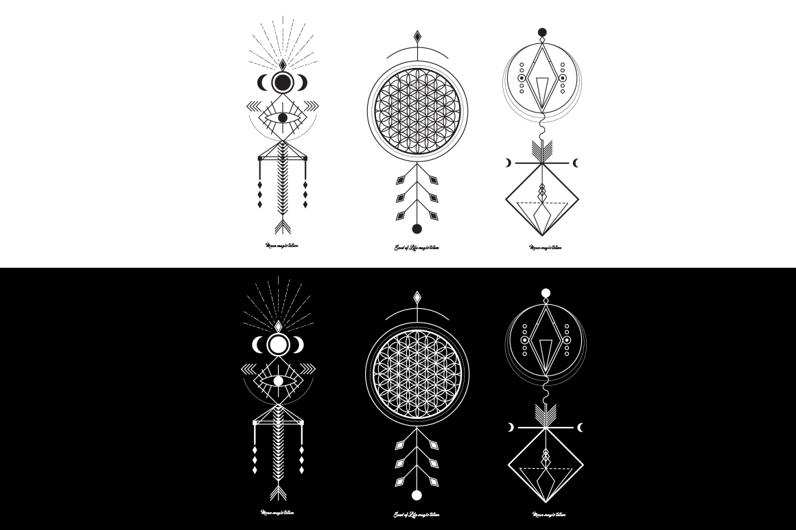 Sacred Geometry  Magic totem on Behance