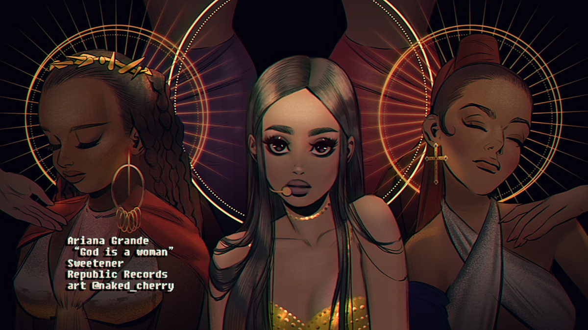 Fan-made animation for Ariana Grande on Behance