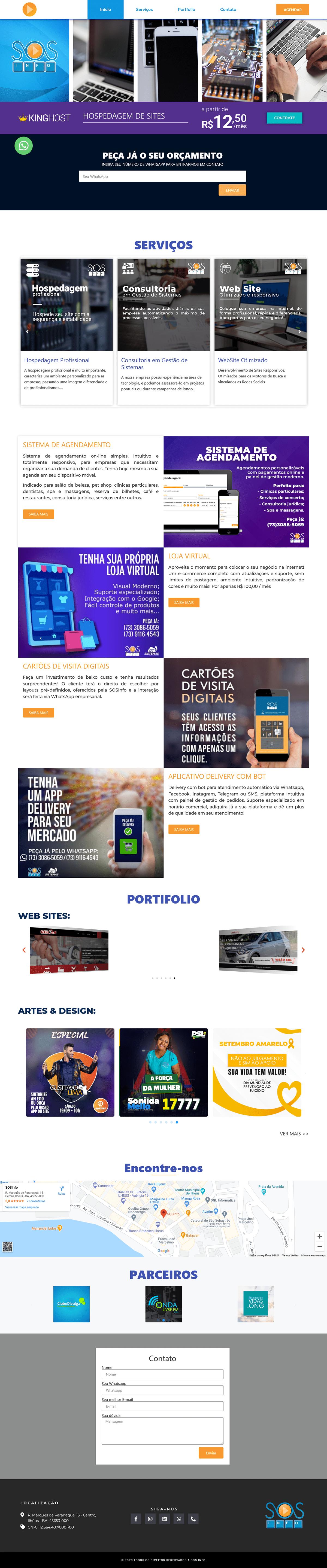 sosinfo tecnologia Website wordpress