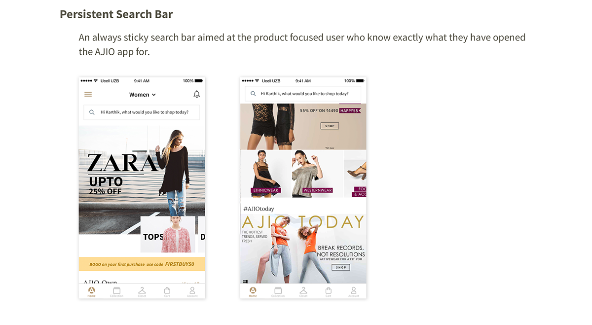 AJIO Mobile App on Behance