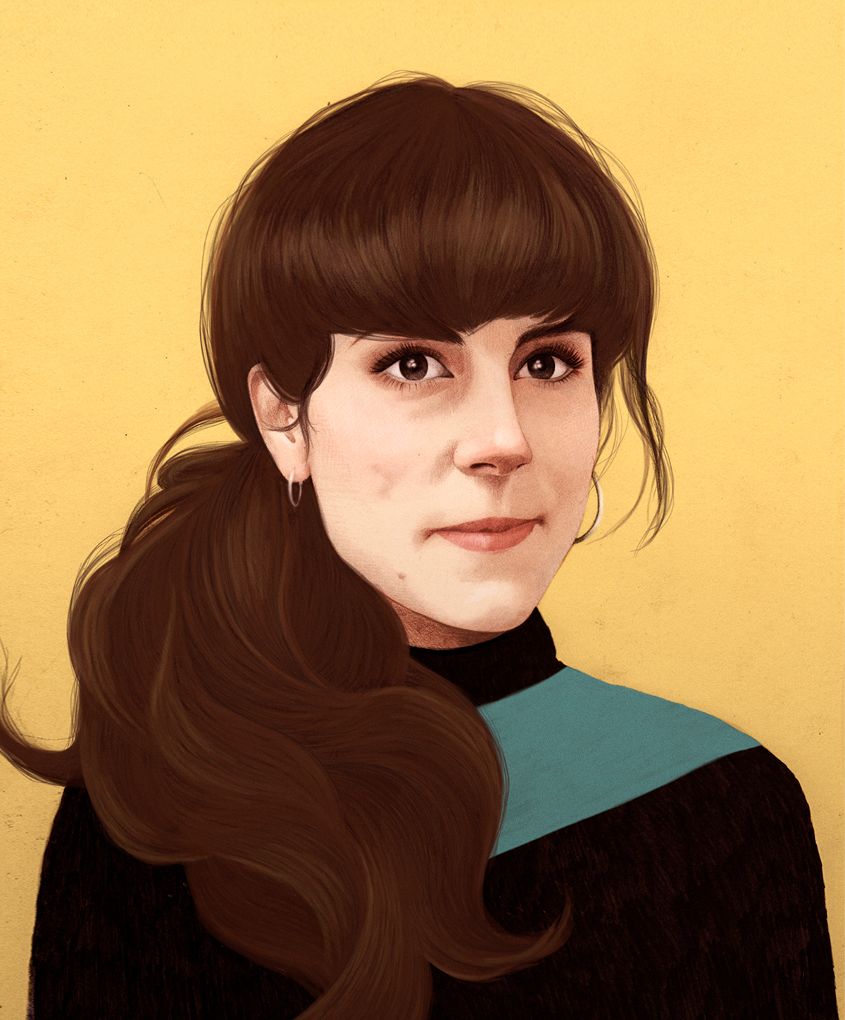 Illustration Portraits for Stylist Magazine by Mercedes deBellard