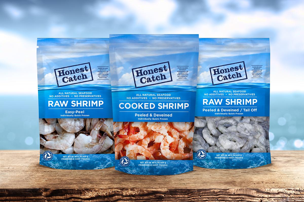 Honest Catch Shrimp Packaging on Behance