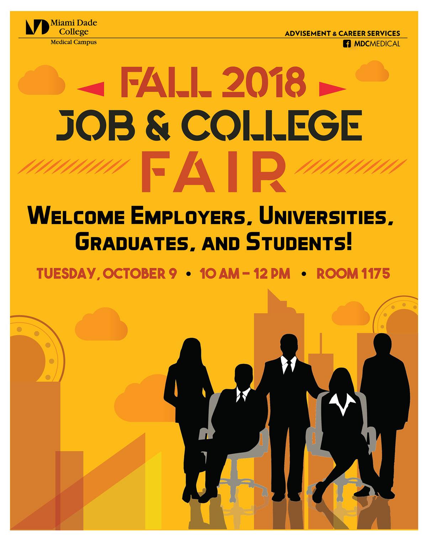 job fair poster on behance