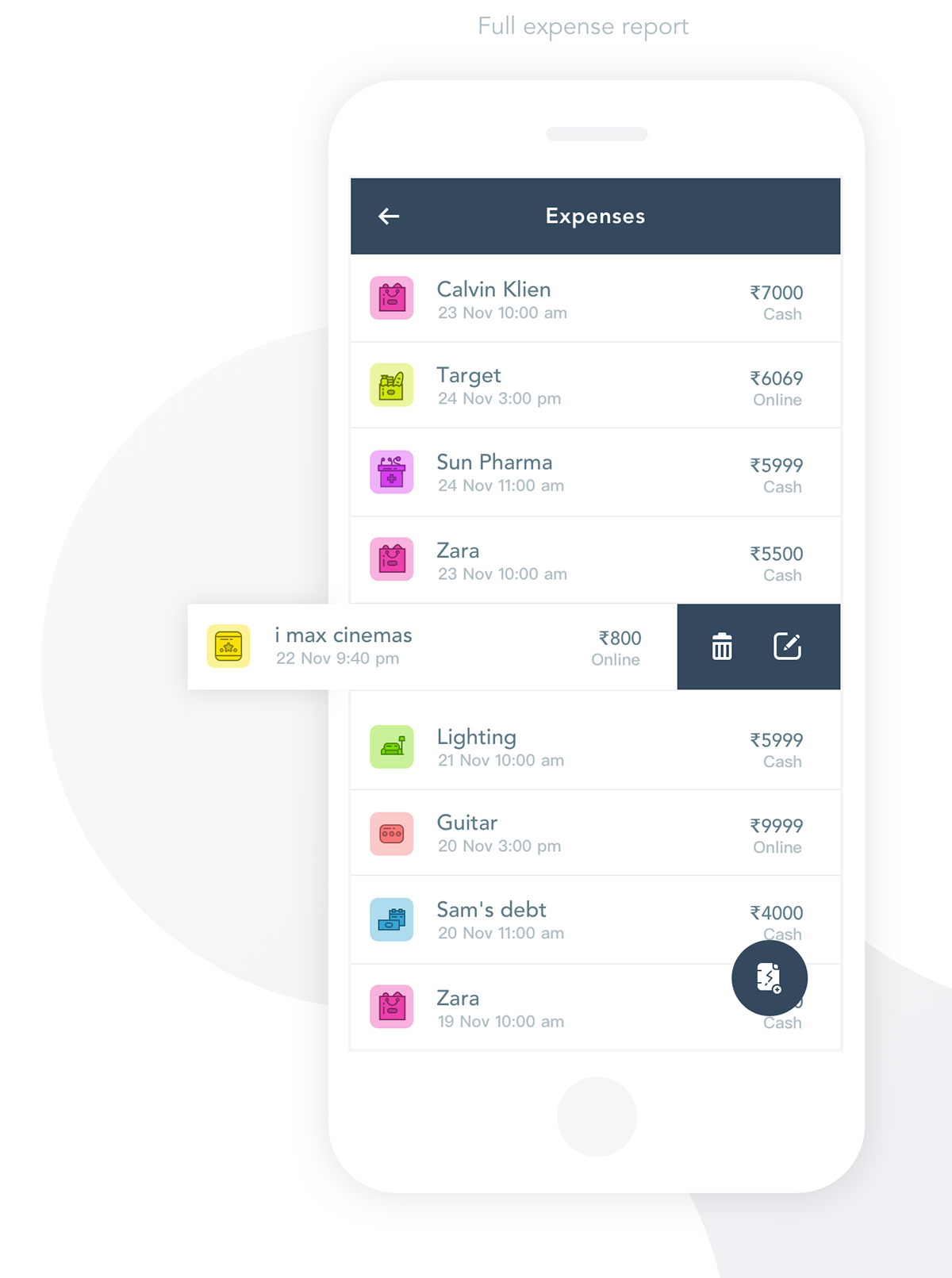 Money expense manager App UI/UX on Pantone Canvas Gallery