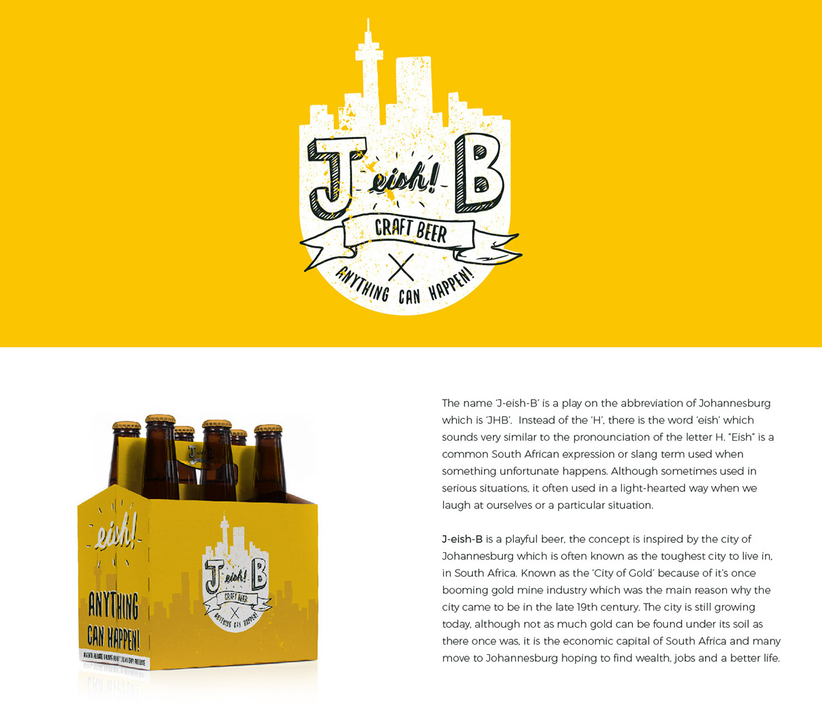 J Eish B Craft Beer Branding Packaging On Student Show