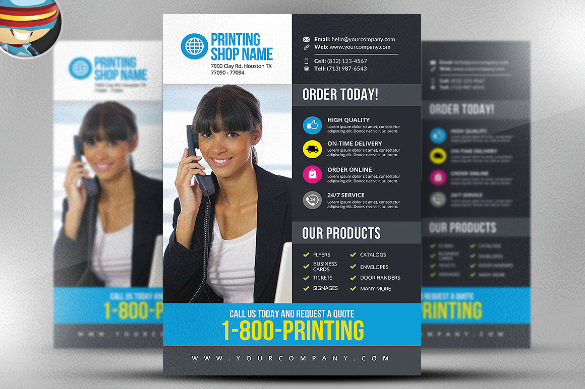 printing services flyer template v on behance once you have ed this template using adobe photoshop cs4 you can make use of this flyer design an unlimited