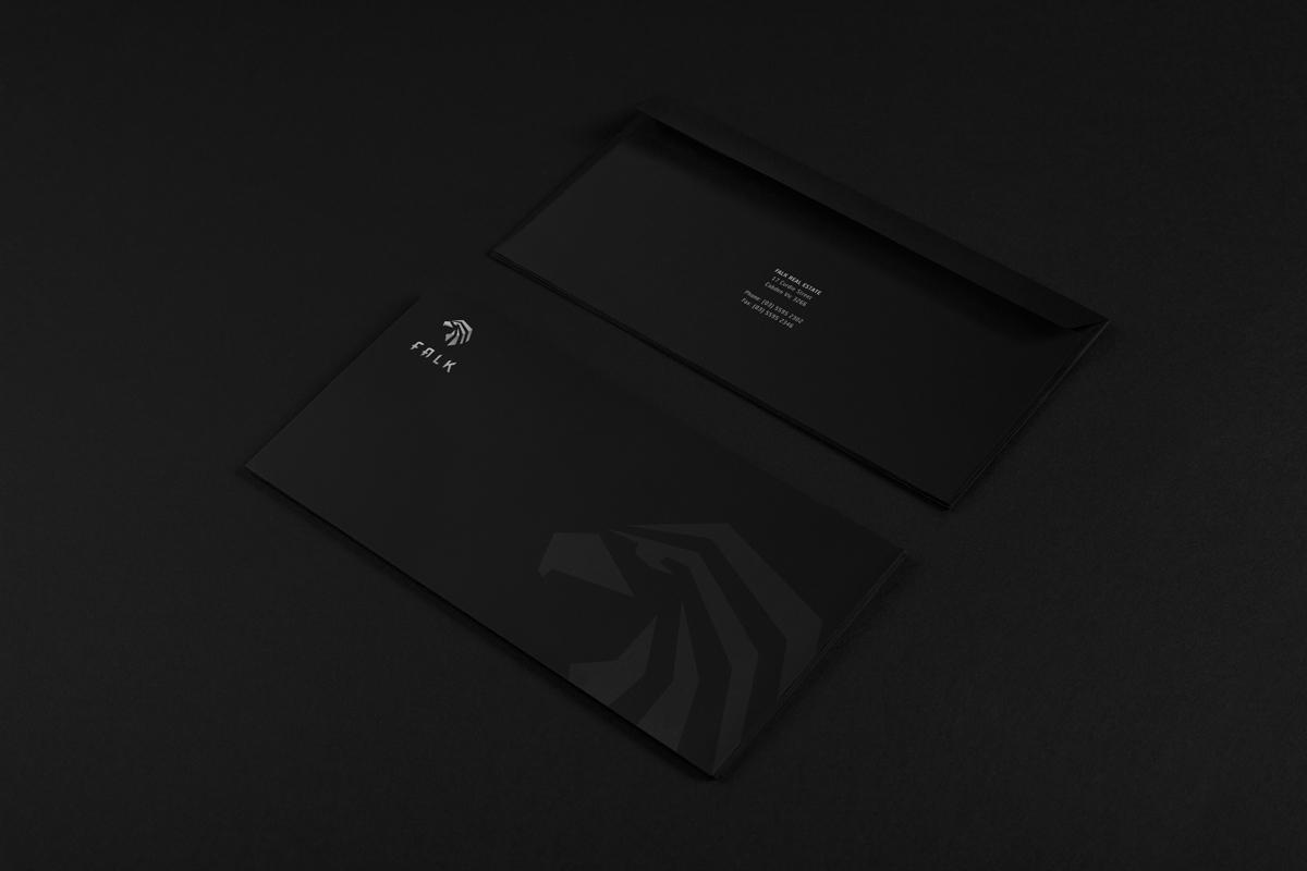 visual identity logo brand Logotype design CI Falk real estate strong clear cut