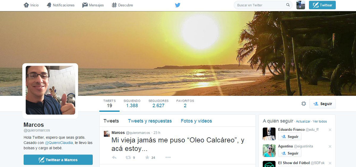 Banco Galicia: Twitter Marcos y Claudia on Behance