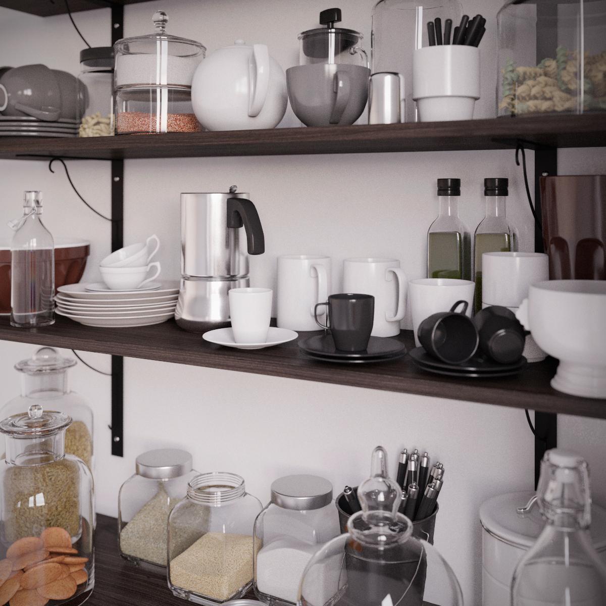 kitchen CGI 3dsmax corona rendering kitchen set