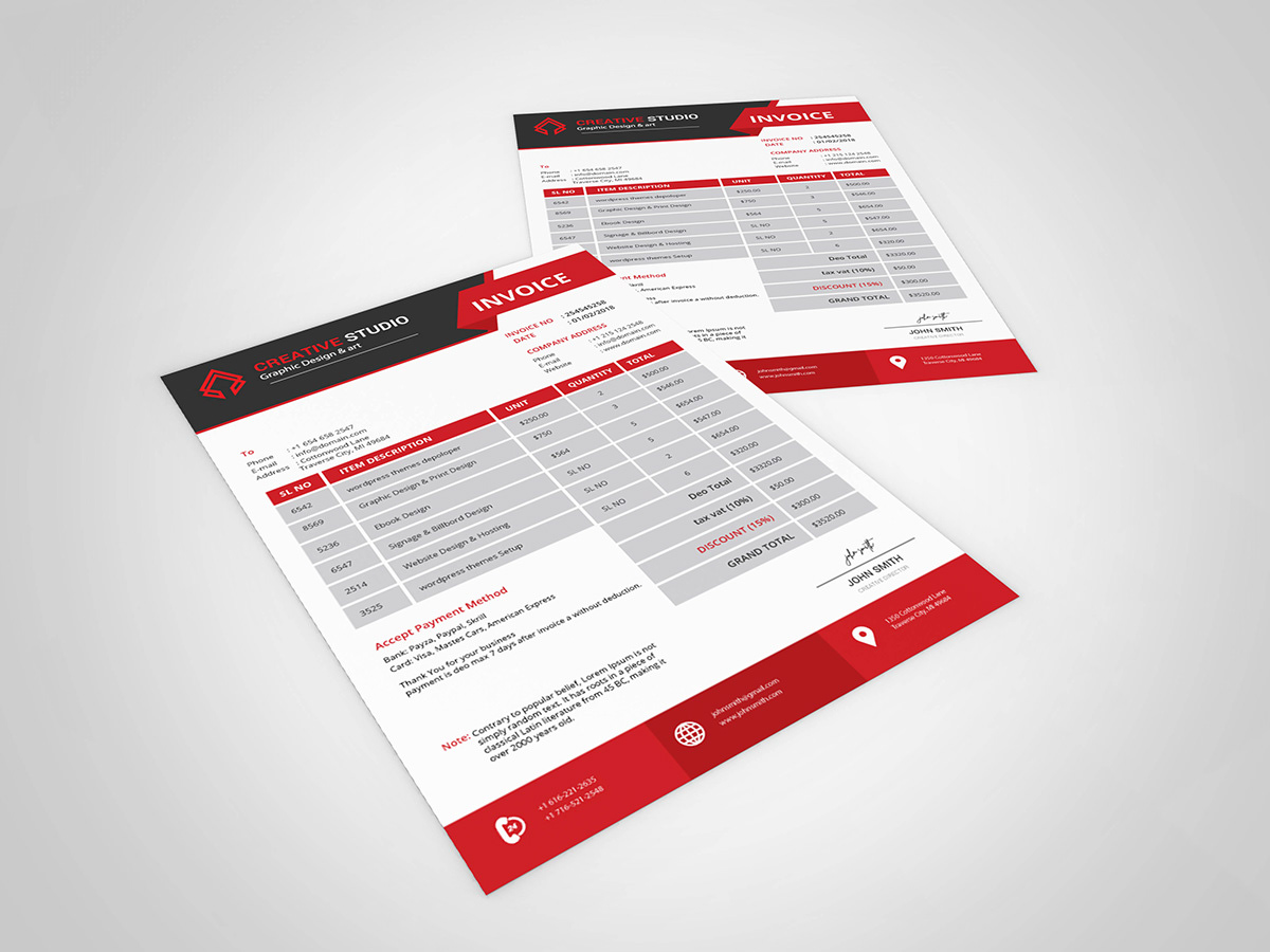 Corporate Invoice Template Download On Student Show
