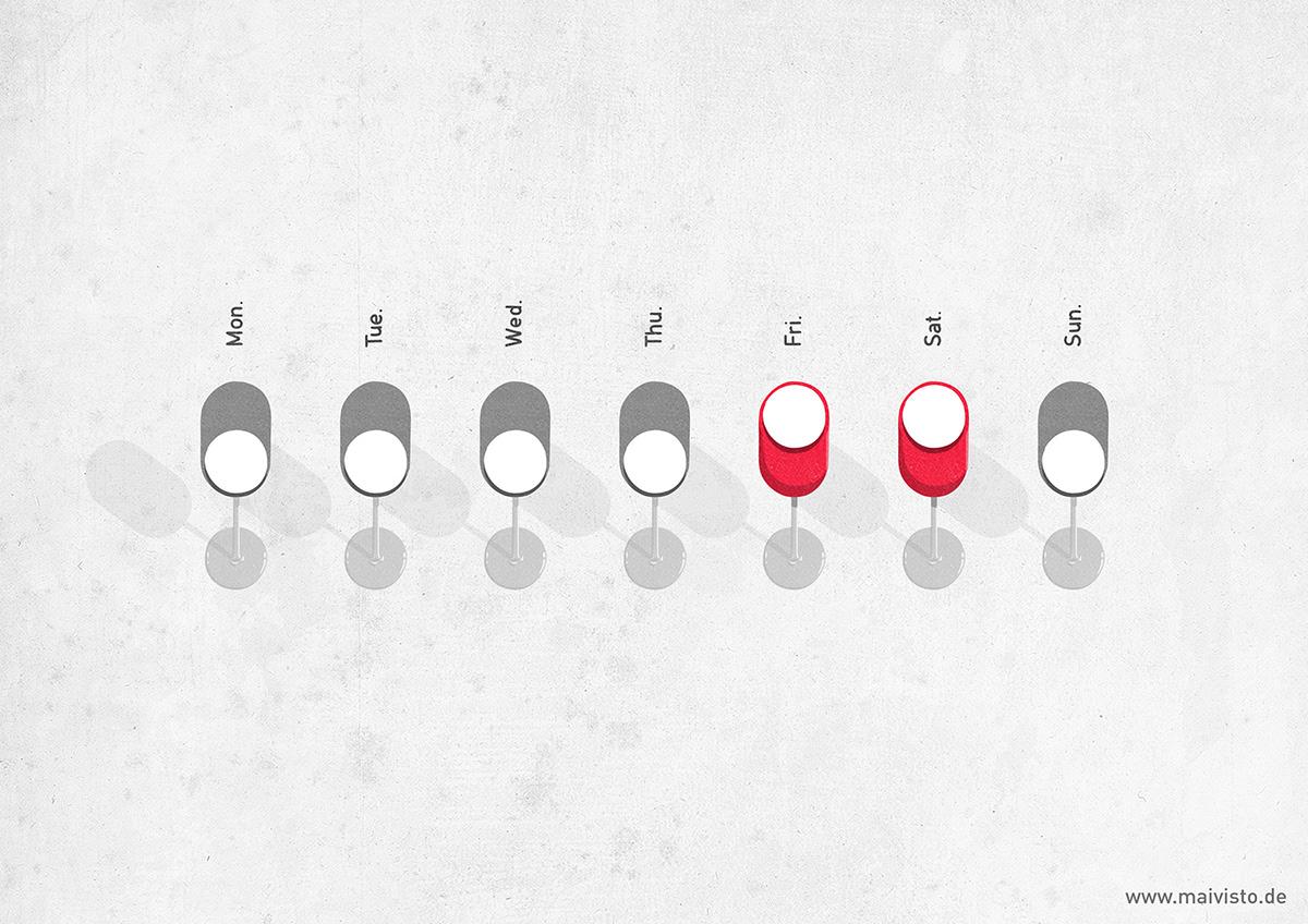 conceptual art conceptual illustration editorial Editorial Illustration flat ILLUSTRATION  minimal red social media streetart