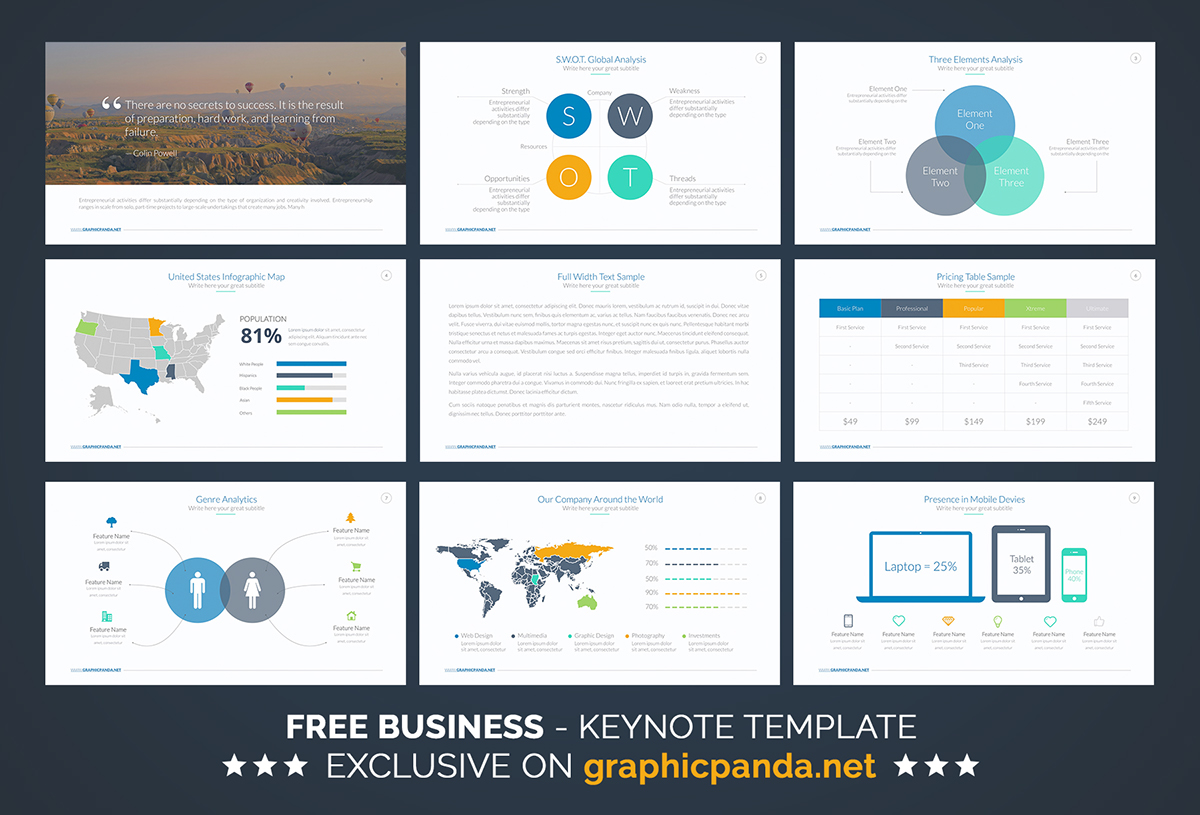 Free business keynote template on behance for Free keynote template