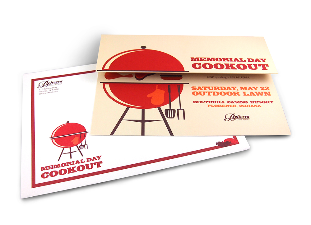 memorial day cookout invitation on behance