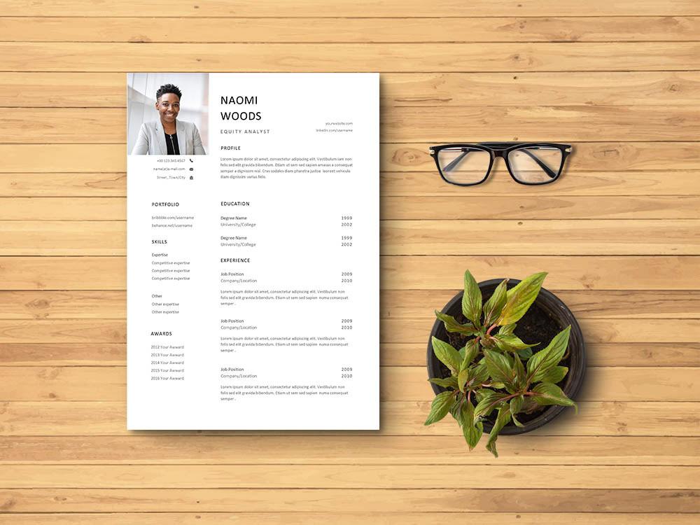 Curriculum Vitae CV CV template Free CV Template free resume template freebies Resume resume template