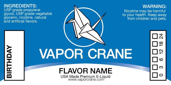 e liquid label template