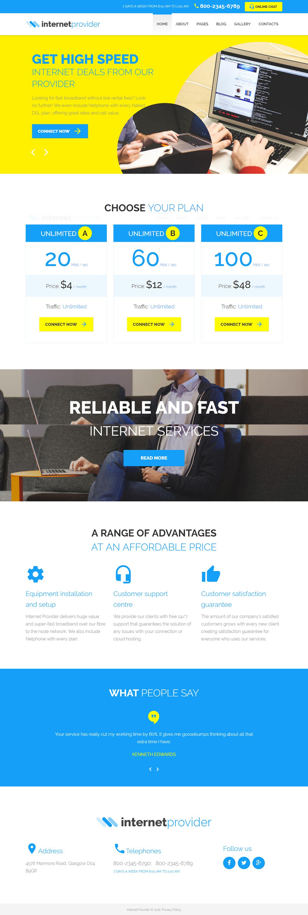 Internet Provider Joomla Template on Behance