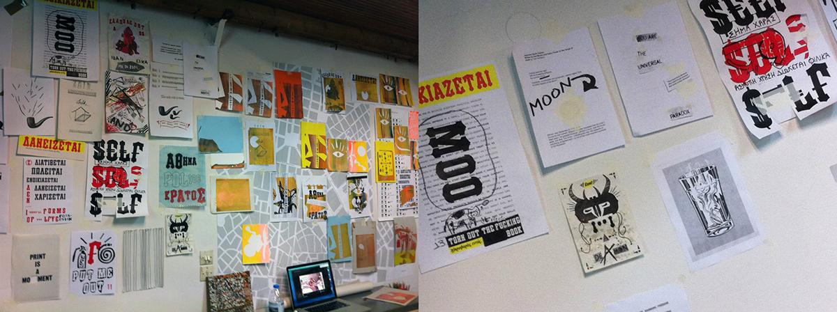 silkscreen silk screen Workshop tind vasilis georgiou Traces of Commerce wordsmithing gallery of merchants stoa emporon screen print screenprint Serigraphy serigraph printmaking