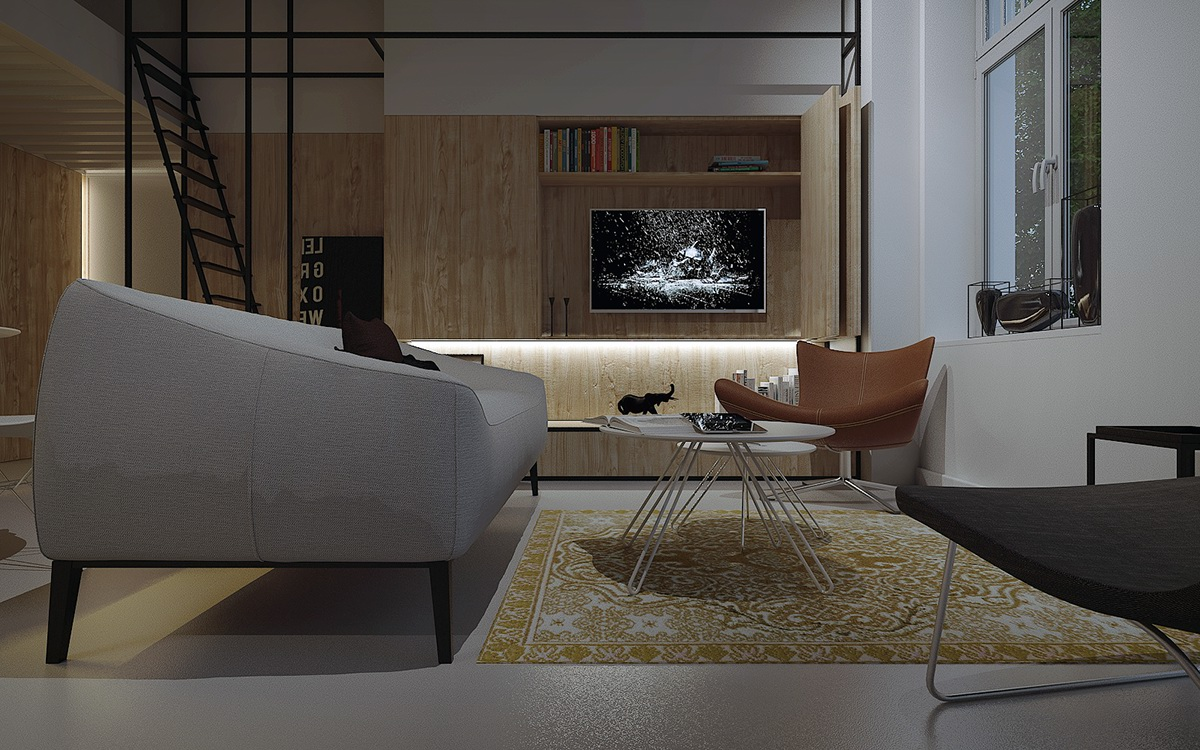 Interior architecture design architektura MUS Project krakow Minimalism modern Wawel