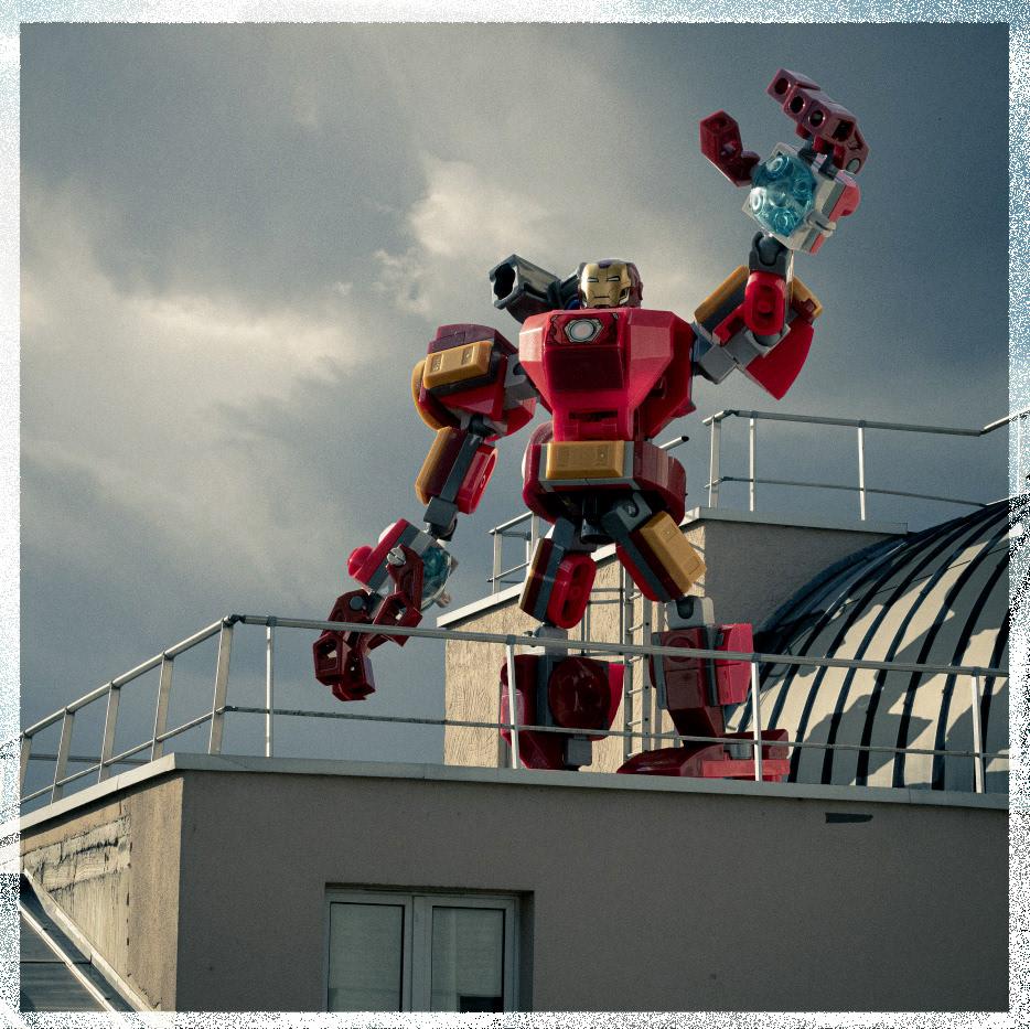 carré dc heroes LEGO photo POLAROID Serie