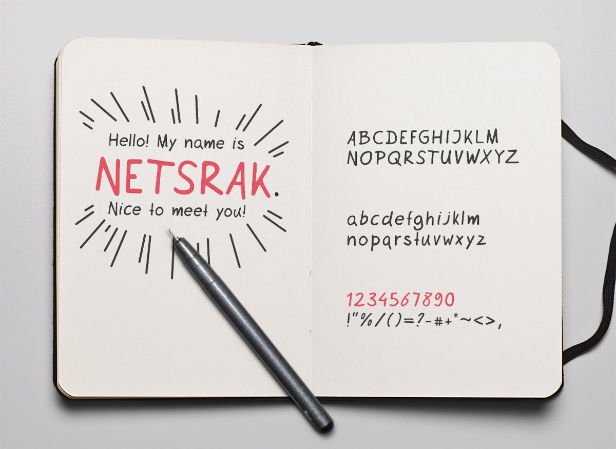 Netsrak free font on Behance