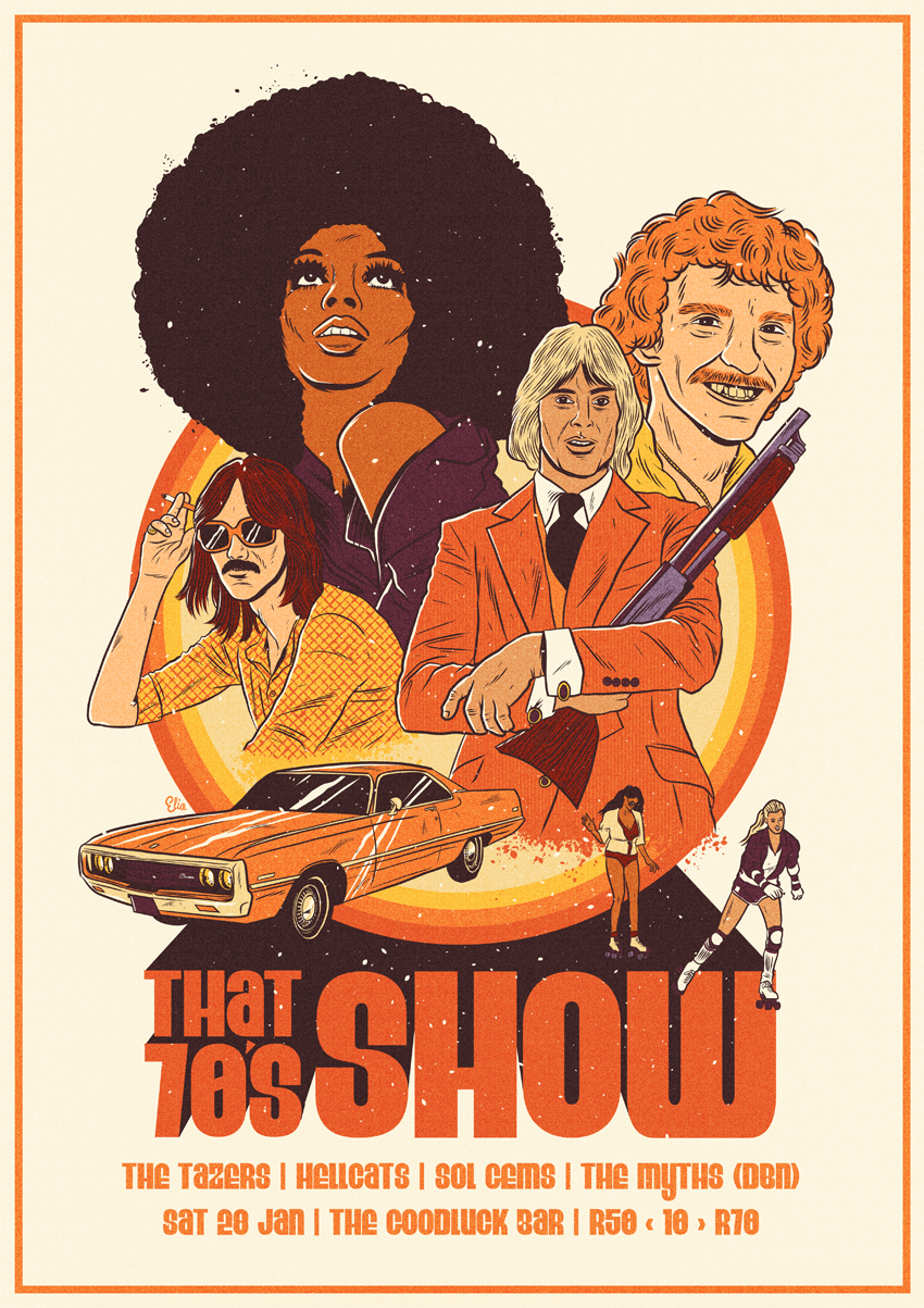 that 70s show poster on behance