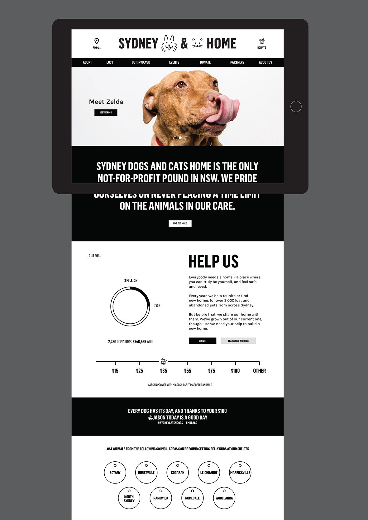 Australia shelter dogs cats care adopt identity Generator logos data-driven animal ForthePeople sdch dog
