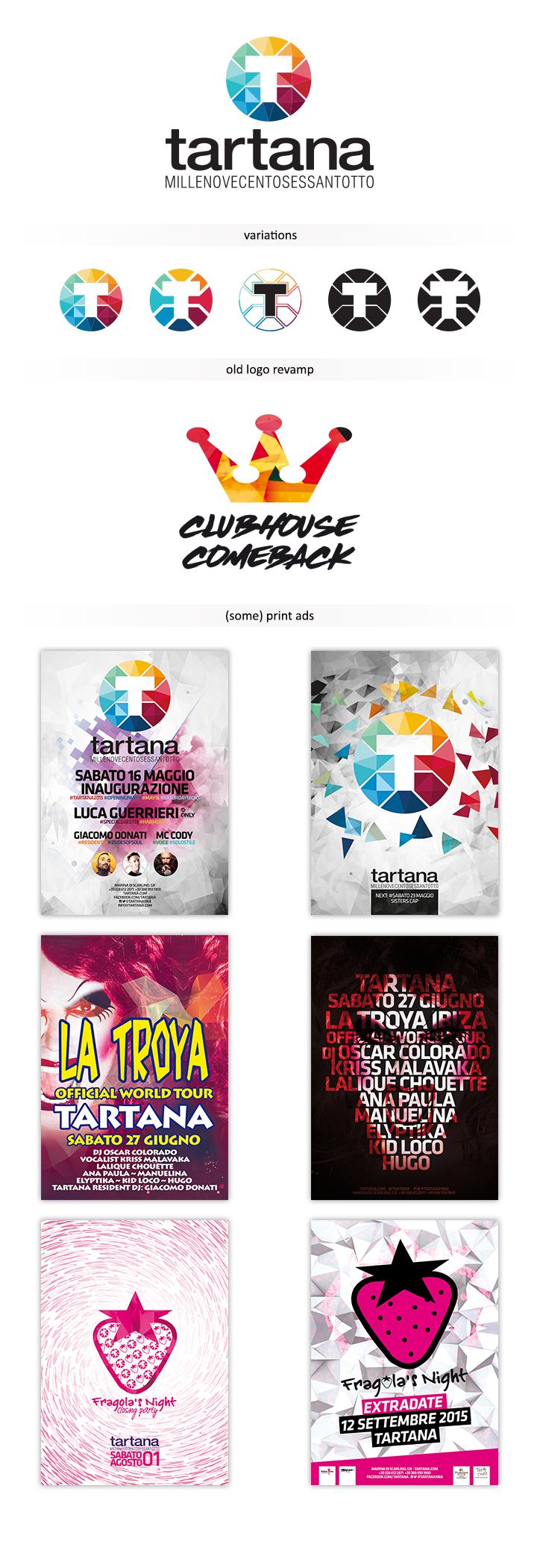 logo flyers Low Poly club