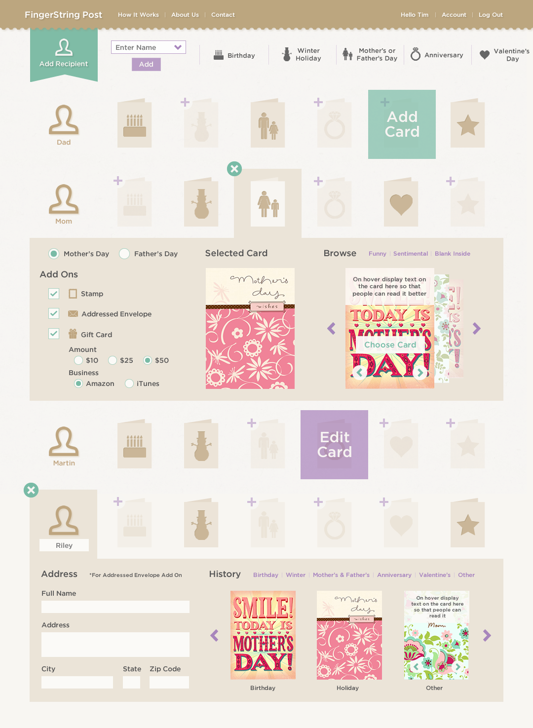 Greeting Card Subscription Service Uiux On Behance