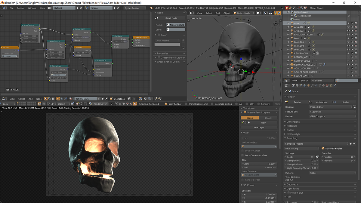 Ghost Rider CG Scull on Behance