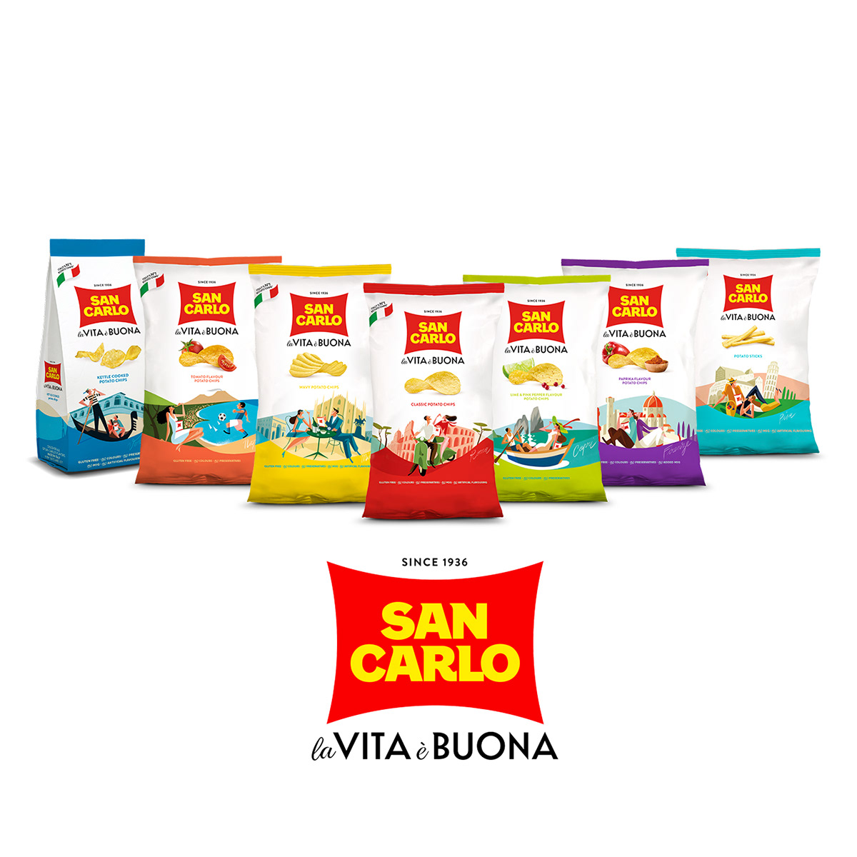 aperitivo,chips,foodie,Italy,MADEINITALY,Packaging,sancarlo,snack