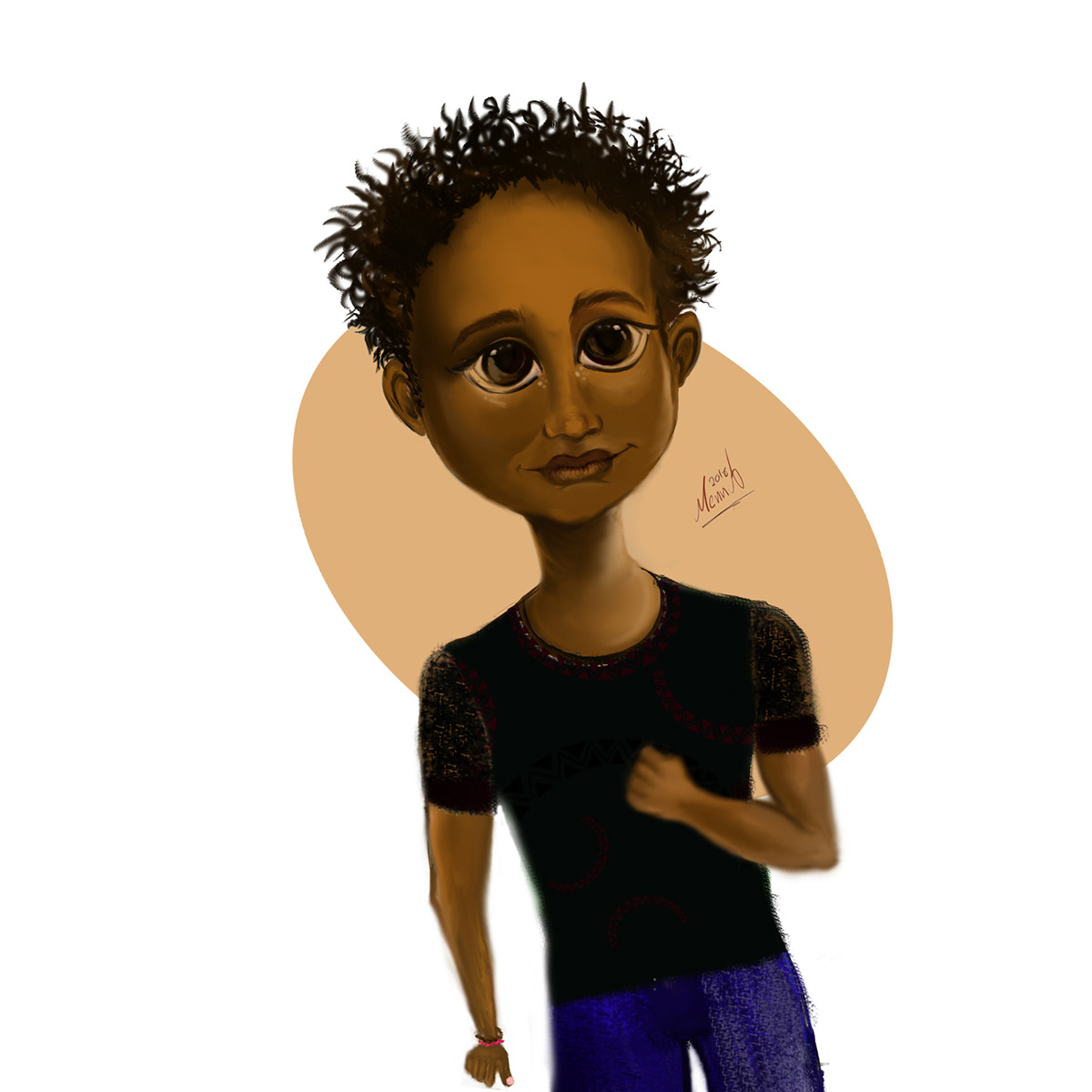 Nubian Character On Wacom Gallery