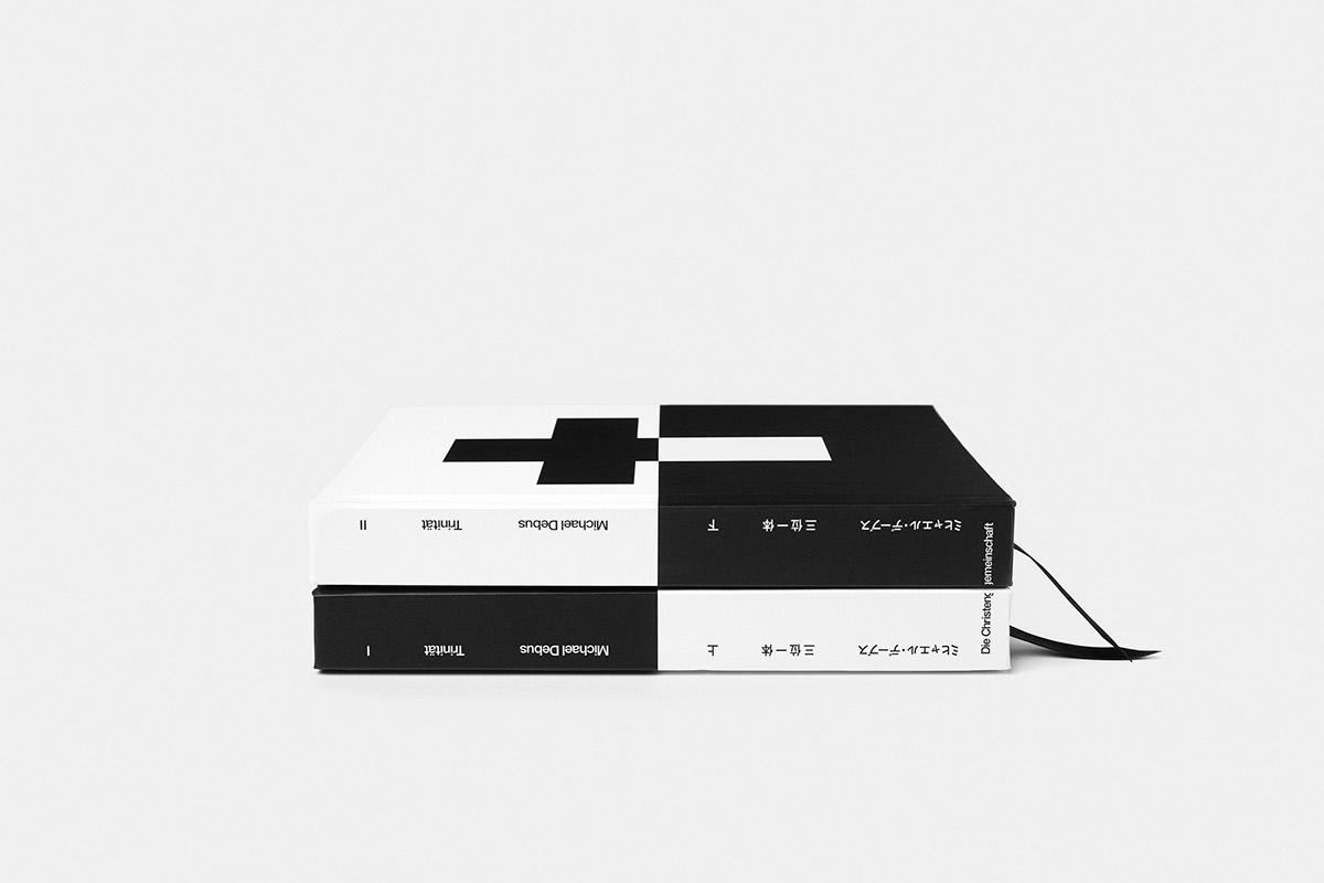 minimal Minimalism White black monochrome book Bookdesign bookcover cover Hardback