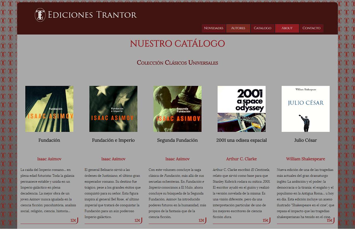 pagina web de Editorial Trantor