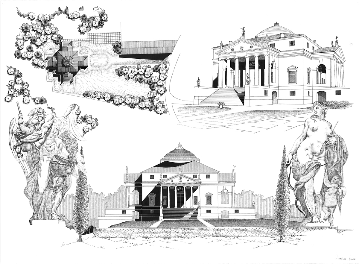 Villa Rotonda Drawing On Behance