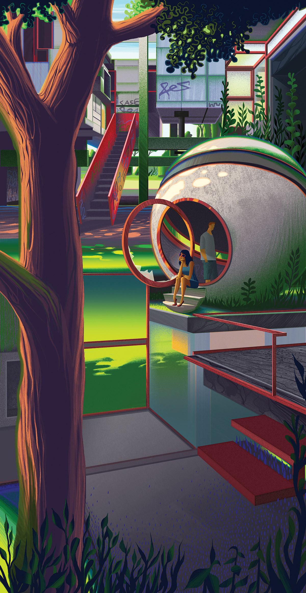 Image may contain: playground, screenshot and cartoon