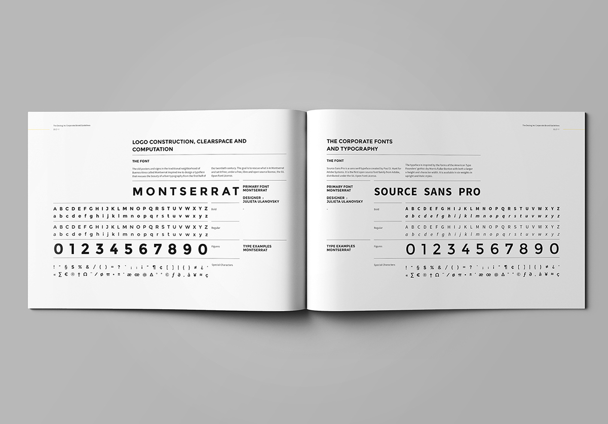 a4 agency brand brand guide brandbook bundle colors Corporate Identity egotype Guide guidelines horizontal identity infographics Landscape