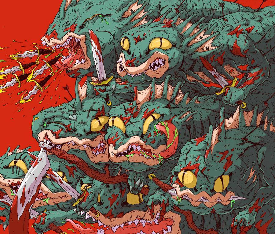 ILLUSTRATION  graphic monsters portfolio editorial