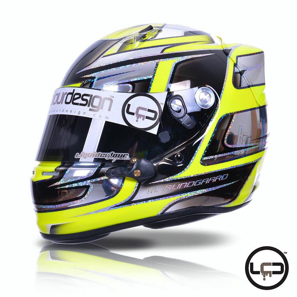 Chrome neon yellow Arai SK6 Karting Helmet on Behance
