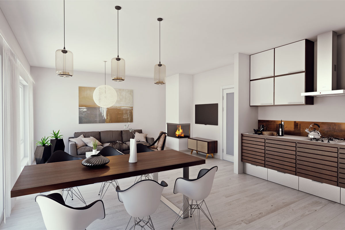 Scandinavian interior design and visualization on behance for Nordic style arredamento