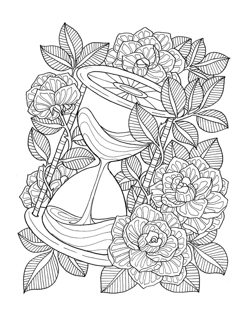 """""""pour voir la vie en rose"""" coloring book agenda 2016 on ..."""