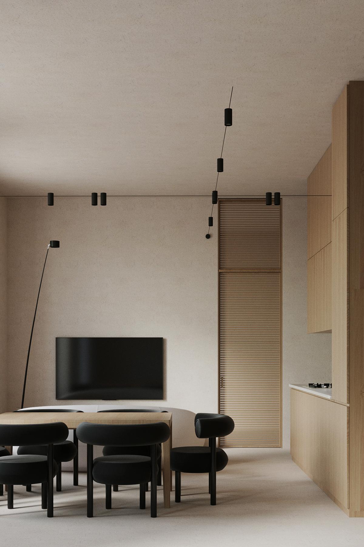 contemporary design davide groppi design interior Minimalism minimalistic design modern interior tom dixon kitchen design Natural Interior Vizualization