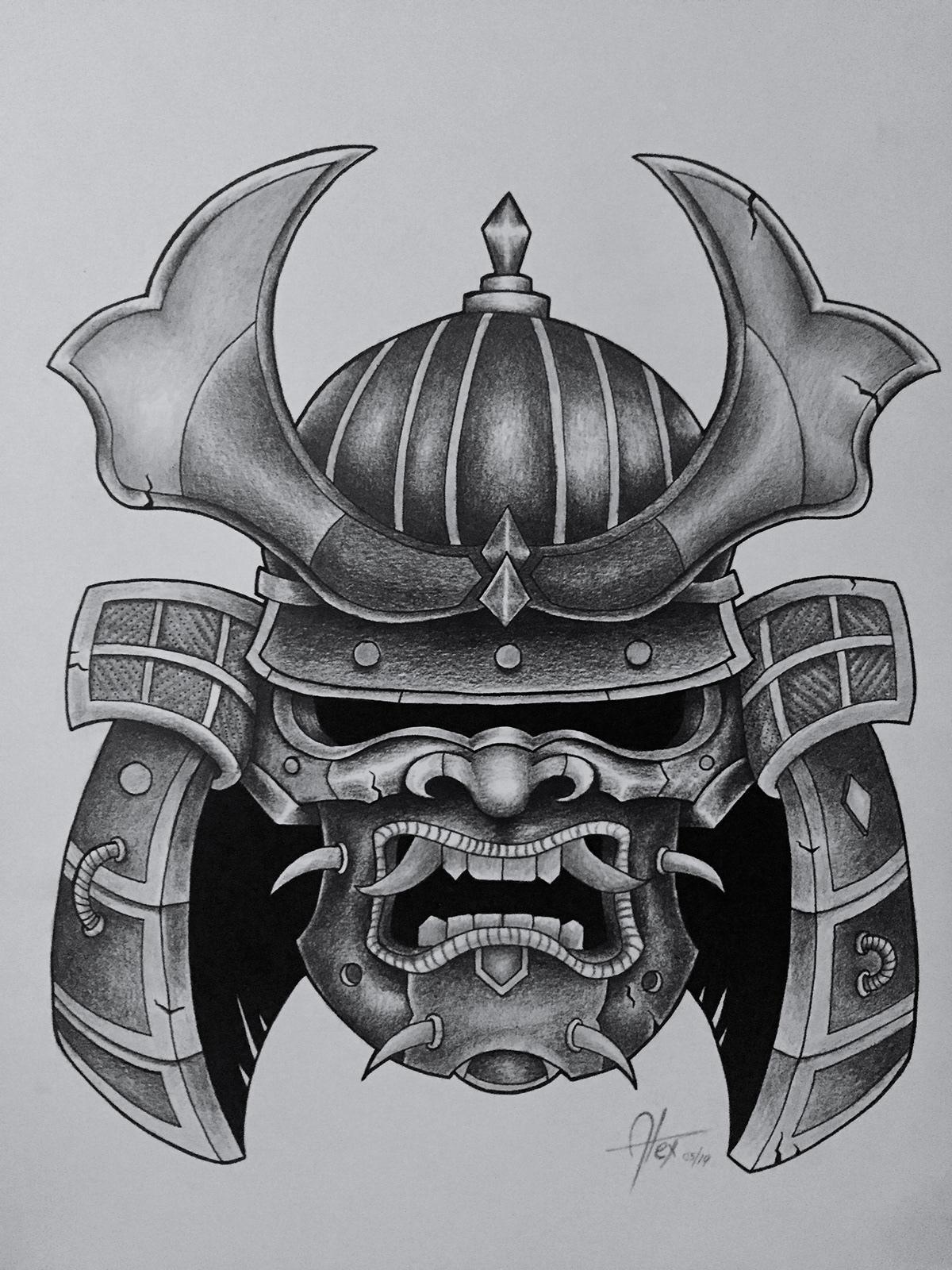 samurai mask on behance  behance