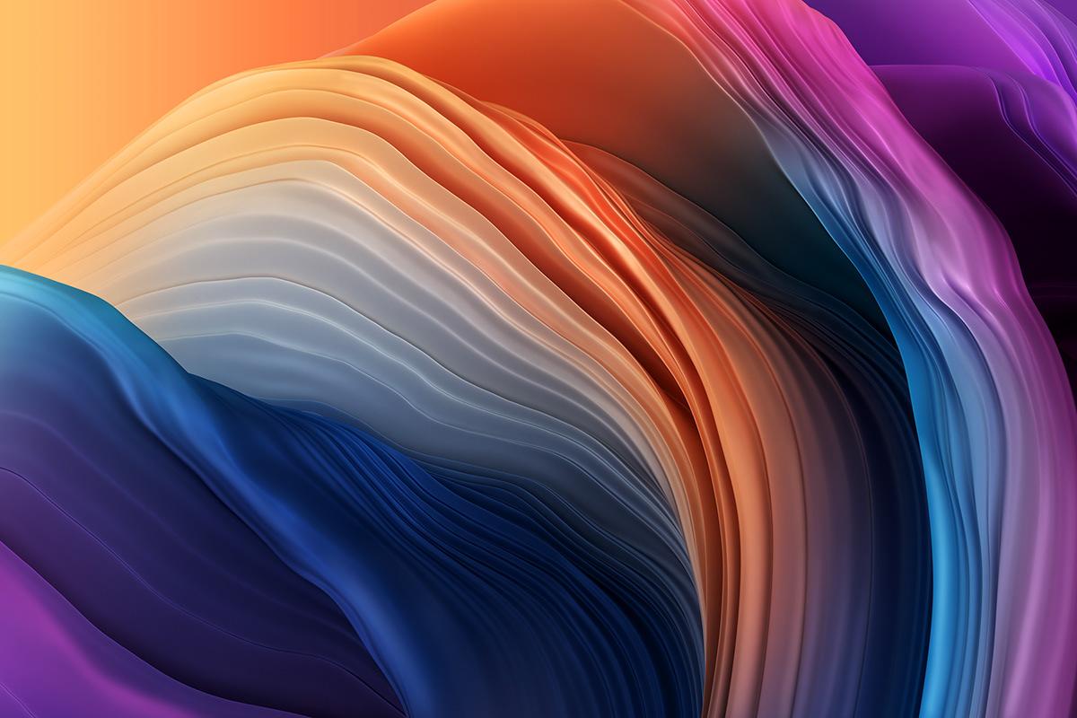 3D c4d Colourful  glass Oostenbroek paint redshift Render Rik wallpaper